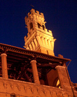 Night view of the Torre del Manga...