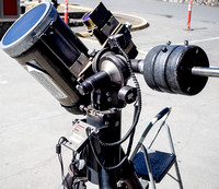 A Celestron CG-11, here with solar filter...